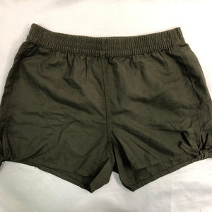 Madewell Foliage Green Cotton Blend Shorts NWT